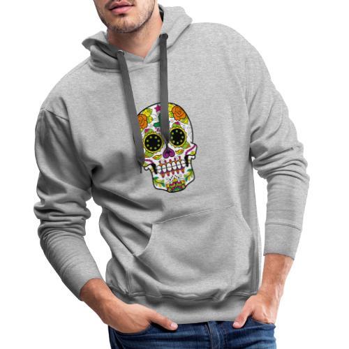 skull4 - Felpa con cappuccio premium da uomo