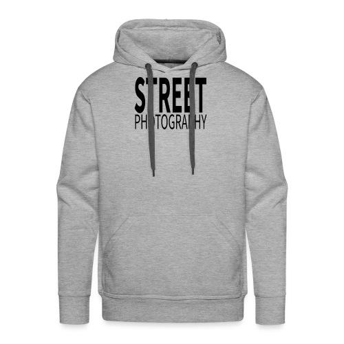 Street photography Black - Felpa con cappuccio premium da uomo