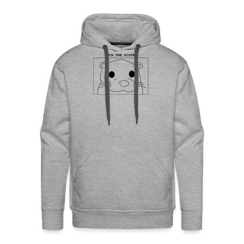 loutre fuck the system / otter fuck the system - Sweat-shirt à capuche Premium pour hommes