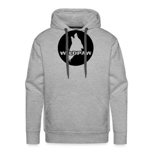 Wildpaw logo circular transparent mono - Men's Premium Hoodie