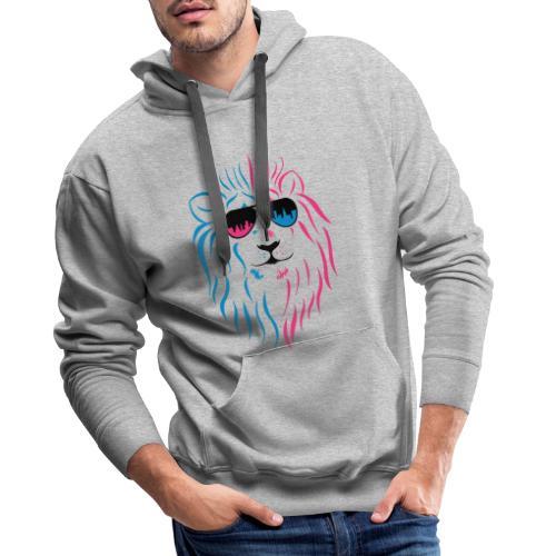 Löwe mit Sonnenbrille - Männer Premium Hoodie