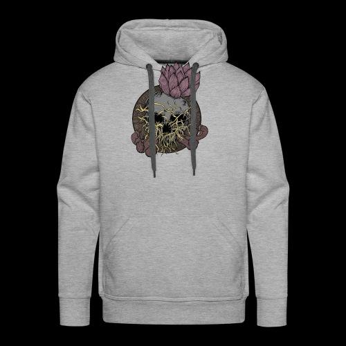 Skull tête de mort et fleur de lotus - Sweat-shirt à capuche Premium pour hommes