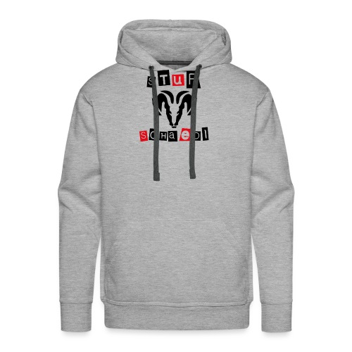 Sturschaedl Band-Logo (heller Hintergrund) - Männer Premium Hoodie