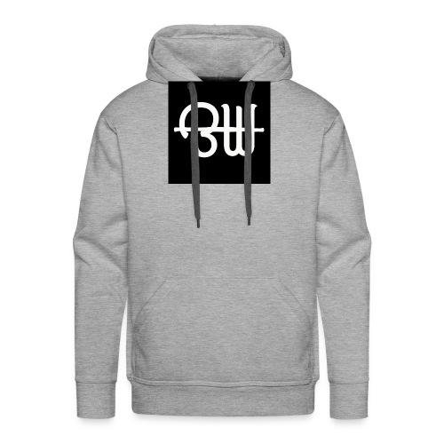 BW simple logo - Mannen Premium hoodie