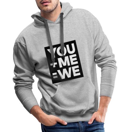 you me men - Sweat-shirt à capuche Premium pour hommes