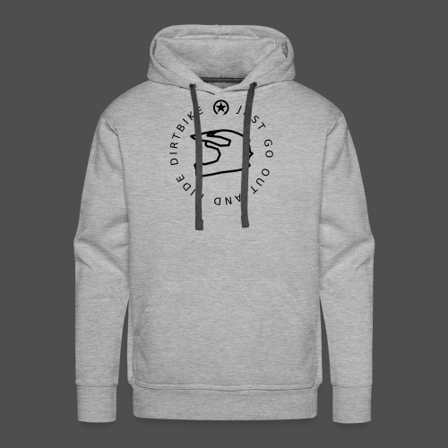 just go out and ride dirtbike 0GO01 - Männer Premium Hoodie