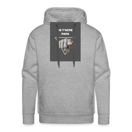 Je t'aime papa - Sweat-shirt à capuche Premium pour hommes