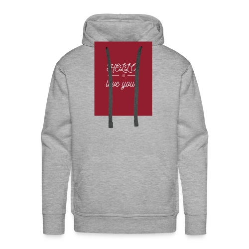 hello is love you - Sweat-shirt à capuche Premium pour hommes