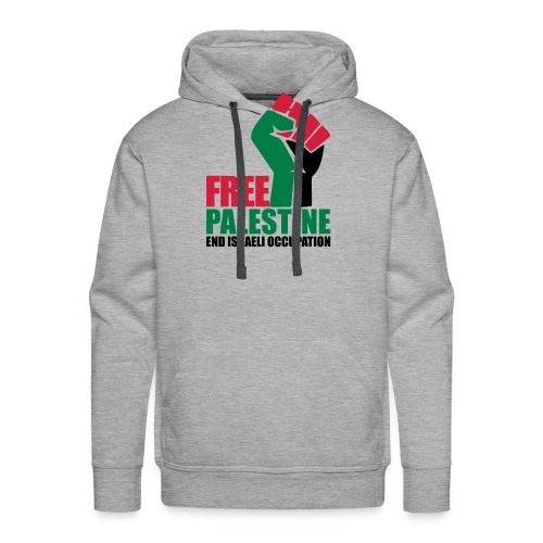 Free Palestine End Israeli Occupation - Men's Premium Hoodie
