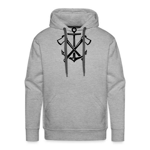 Hipster Anker Axt Emblem - Männer Premium Hoodie
