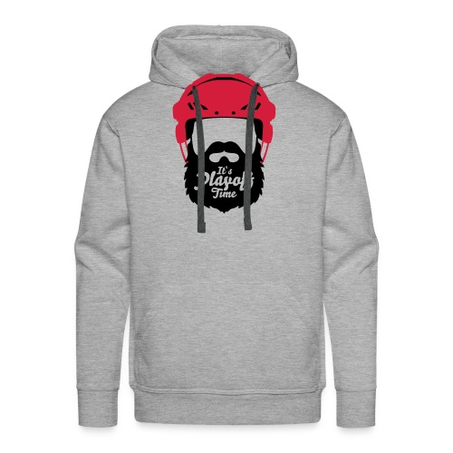 Eishockey Playoff Bart - Hockey Beard Helmet 1 - Männer Premium Hoodie