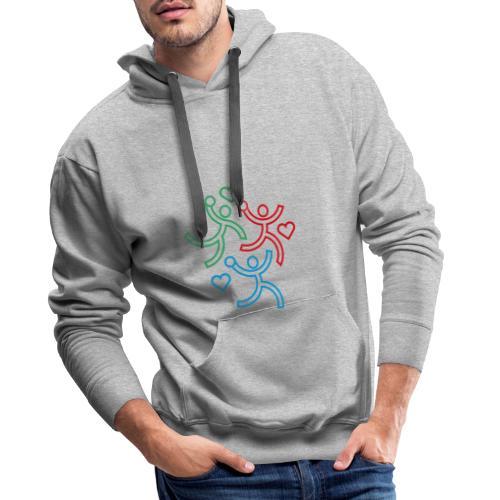 Les 3 handballeurs - Sweat-shirt à capuche Premium pour hommes