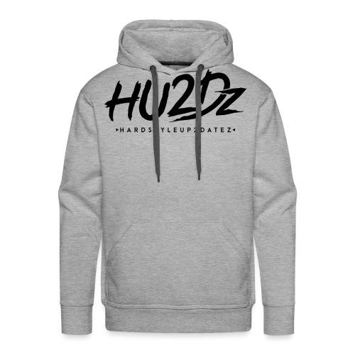 HU2Dz Logo Zwart - Mannen Premium hoodie