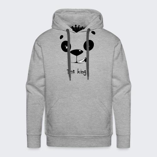 le roi des panda - Sweat-shirt à capuche Premium pour hommes