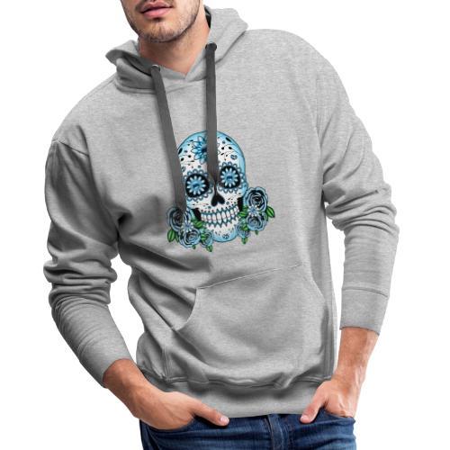 Blue Sugar Skull - Men's Premium Hoodie