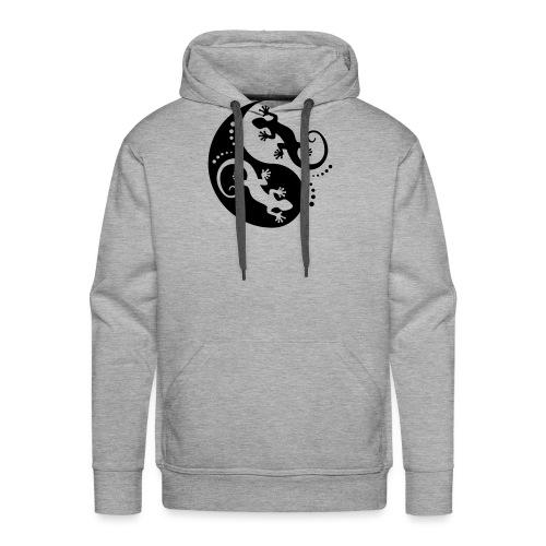 YIN & YANG Geckos black - Männer Premium Hoodie
