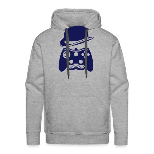 manette chapeau melon moustache personna - Sweat-shirt à capuche Premium pour hommes