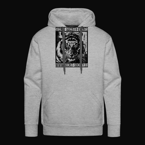 TigerdesignALLBACKNOWHITE png - Männer Premium Hoodie