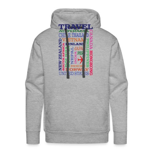 Travel Places design - Miesten premium-huppari