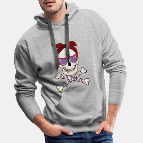 Feminist skull - Sudadera con capucha premium para hombre