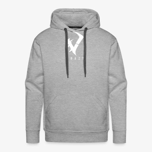 CraZy-Logo Weiß - Männer Premium Hoodie
