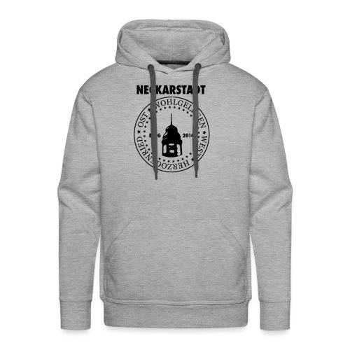 Neckarstadt Blog seit 2014 (Logo dunkel) - Männer Premium Hoodie