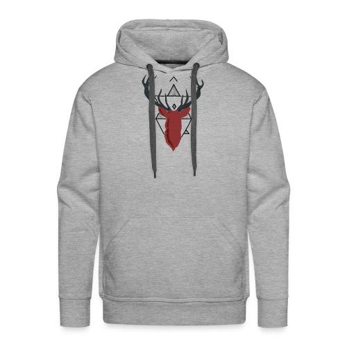 Ciervo geométrico - Sudadera con capucha premium para hombre