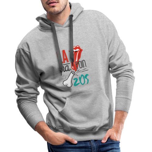 la langue na poin le zos 974 - Sweat-shirt à capuche Premium pour hommes