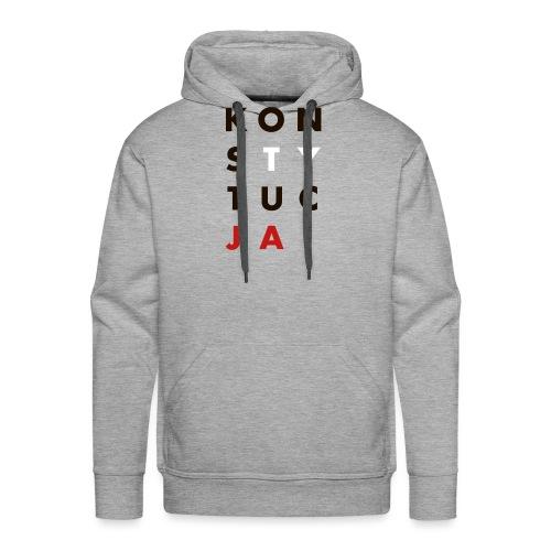 konsTYtucJA - Bluza męska Premium z kapturem