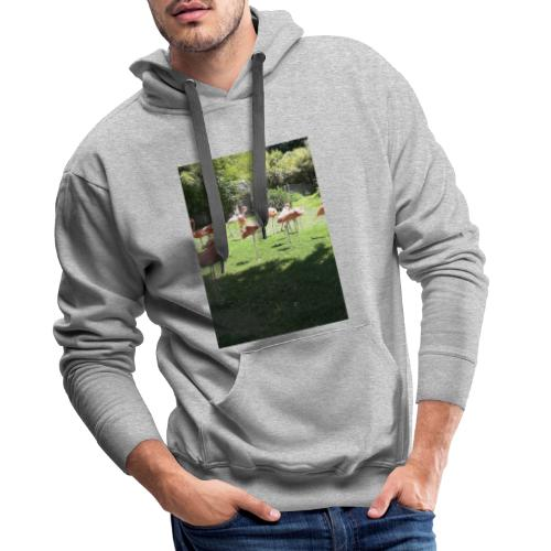 Flamants roses - Sweat-shirt à capuche Premium pour hommes