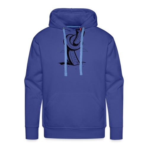 Bouton Tour - Sweat-shirt à capuche Premium pour hommes