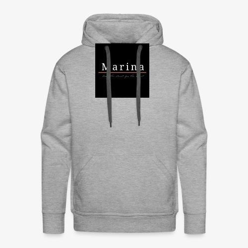 Marina black - Felpa con cappuccio premium da uomo