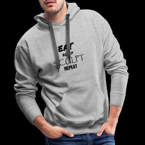 eat sleep noir - Sweat-shirt à capuche Premium pour hommes