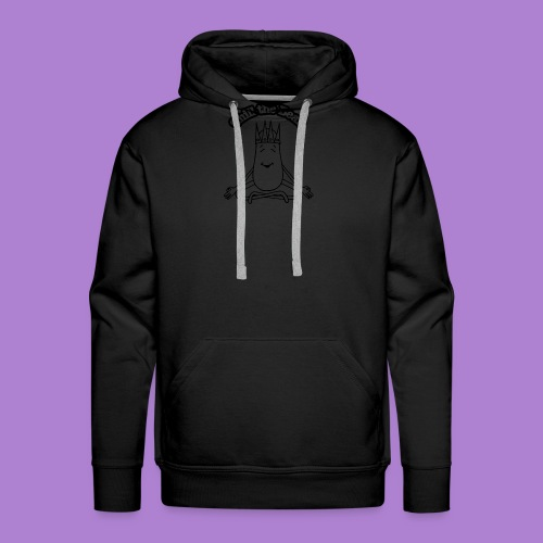 Chill the Bean black outline - Men's Premium Hoodie