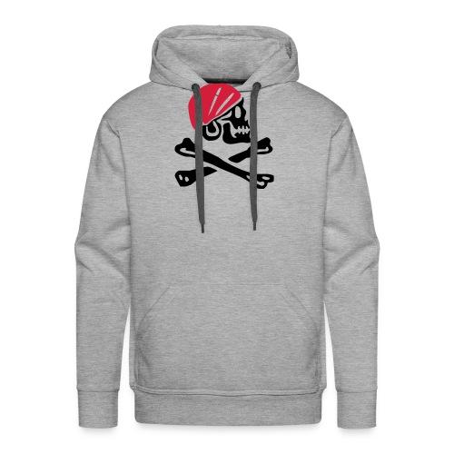 Piratentotenkopf mit rotem Kopftuch - Männer Premium Hoodie