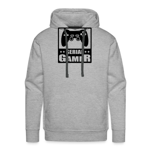 serial gamer - Sweat-shirt à capuche Premium pour hommes