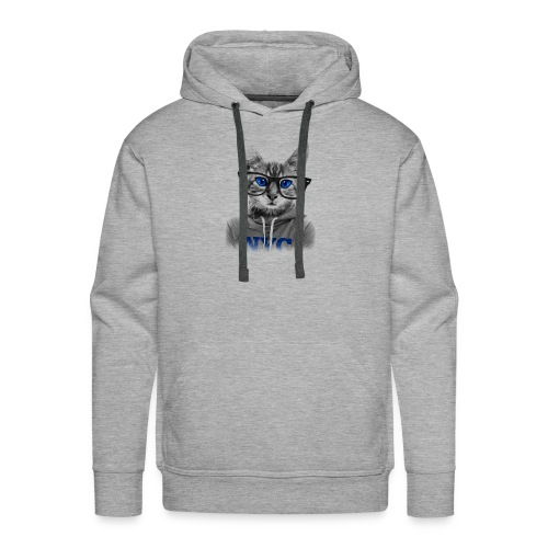 Nerdy Cat - Männer Premium Hoodie