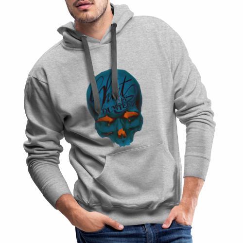 Dum Skull Orange glow - Mannen Premium hoodie