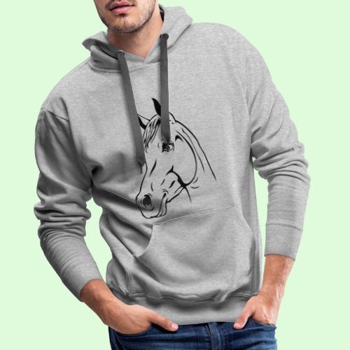 tête de cheval - Sweat-shirt à capuche Premium pour hommes