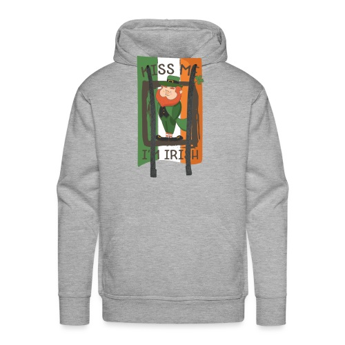 St. Patrick's Day Leprechaun - I'm Irish - Kiss Me - Men's Premium Hoodie