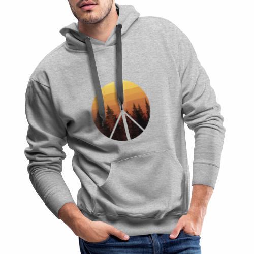 peace and sun - Sweat-shirt à capuche Premium pour hommes
