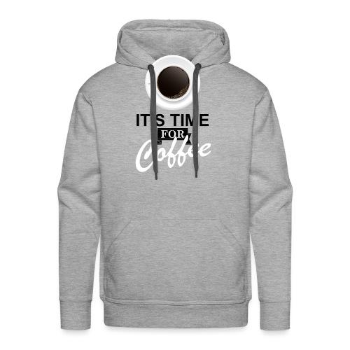 Coffee_time - Sweat-shirt à capuche Premium pour hommes