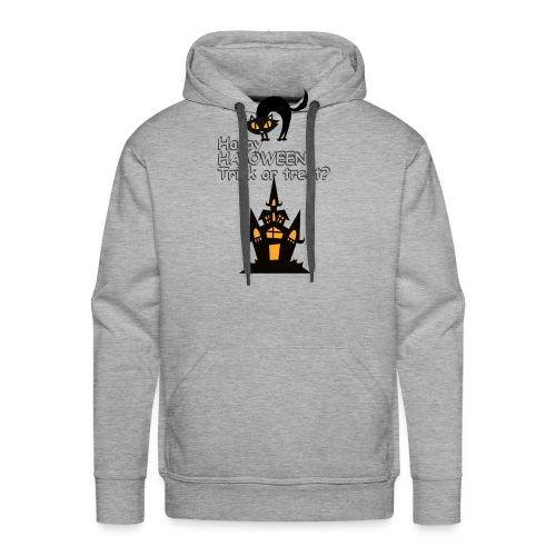 CAT LOVE CHAT AMOUR HALOWEEN - Sweat-shirt à capuche Premium pour hommes