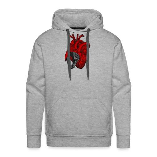 Corazón Chapado - Sudadera con capucha premium para hombre