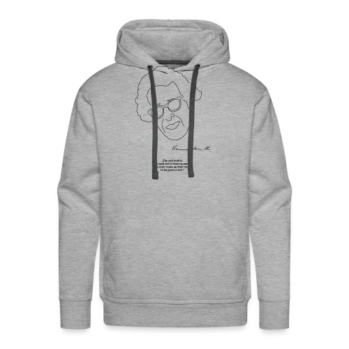 Hannah Arendt Sketch and Quote black - Männer Premium Hoodie