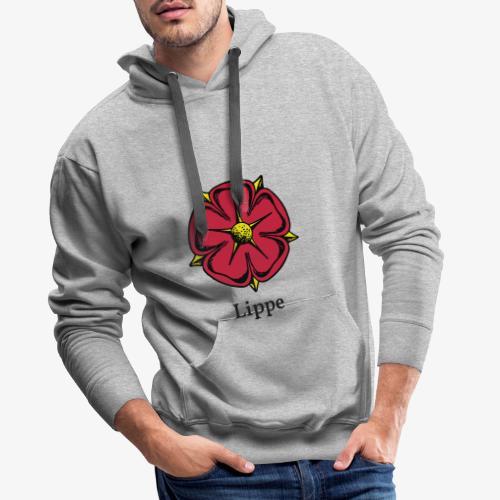 Lippische Rose mit Unterschrift Lippe - Männer Premium Hoodie