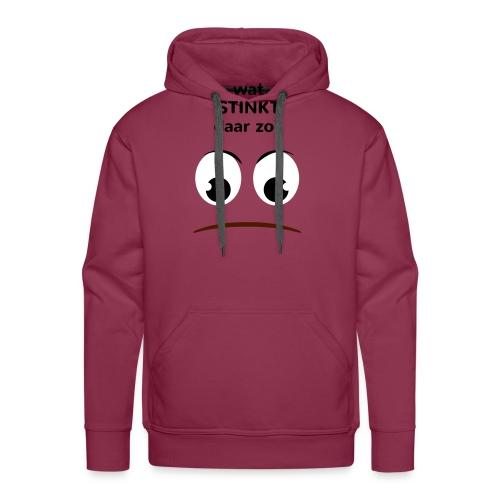 Grappige Rompertjes: Wat stinkt daar zo - Mannen Premium hoodie