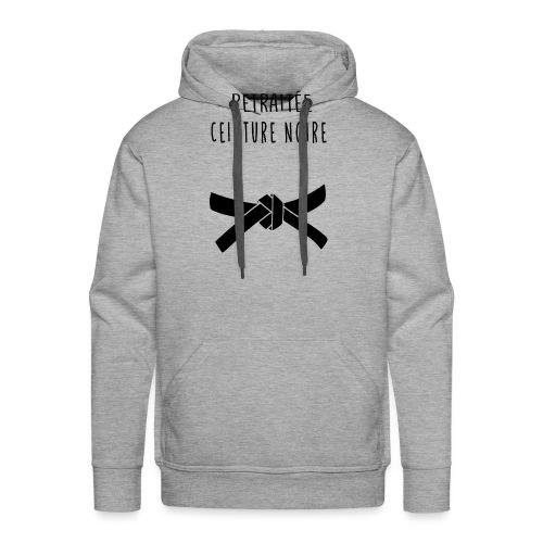 RETRAITEE CEINTURE NOIRE - Sweat-shirt à capuche Premium pour hommes