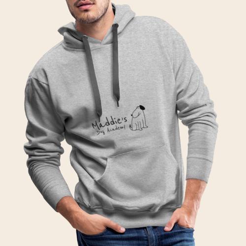 Académie des chiens de Maddie (noir) - Sweat-shirt à capuche Premium pour hommes