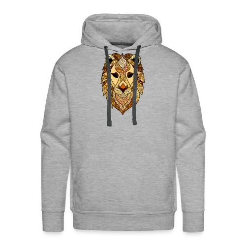 lion - Felpa con cappuccio premium da uomo